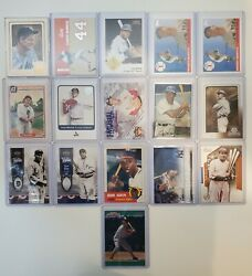 Lot Of 16 Hof Legends Baseball Cards Babe Ruth Hank Aaron Mickey Mantle Ty Cobb