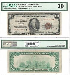 1929 100 Chicago District Frbn Star Note Fr 1890-g Pmg Very Fine-30