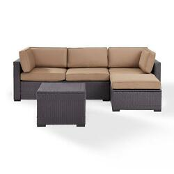 Crosley Biscayne 4 Person Outdoor Wicker Seating Set