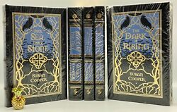 🖊signed Easton Press The Dark Is Rising Series Susan Cooper Leather Bound Books