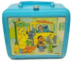 Vintage Sesame Street Lunch Box W/thermos - Aladdin Industries Muppets