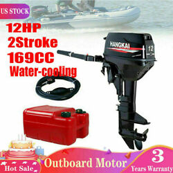 12hp 2stroke Outboard Motor Fishing Boat Engine With Water-cooling Cdi 169cc