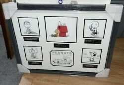 Peanuts Guide To Life Signed In Ink By Charles M. Schulz Matted And Framed W/coa