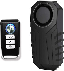 Greencycle 1 Pack Bike Alarm With Remote Anti-theft Vibration Security Alarm Fo