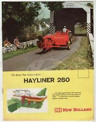 New Holland Machinery Farm Hayliner 280 Vintage Graphic Advertising Brochure