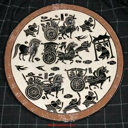 Large And Heavy Vietnamese Bien Hoa Ceramic Pottery Charger Plate