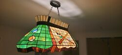 Style Billiard Island Light Stained Glass Island Chandelier For...