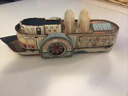 Vintage Great Swanee Tin Toy Steam Boat As Pictured.