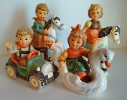4 Hummel Beep Beep Swan Chariot Up And Down Round We Go Carousel 2291/a/b/c Mint