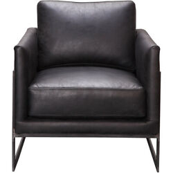 Moeand039s Home Collection Pk-1082-02 Luxley Black Club Chair