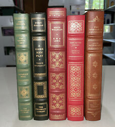Franklin Library Books, 2 First Edition, Lot Of 5