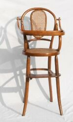 Antique Heywood Wakefield Chair Bentwood Chair Child's Chair Highchair Caned
