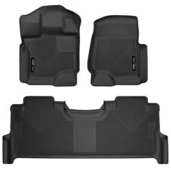 53388 Husky Liners Floor Mats Front New Black For F250 Truck F350 F450 Ford