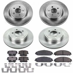 Koe2853 Powerstop Brake Disc And Pad Kits 4-wheel Set Front And Rear New For 300
