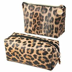 2Pcs Makeup Bag Travel Cosmetic Bag for Purse Small Bag Leopard Cute Pouch Gi... $19.67