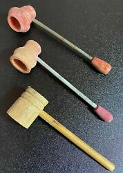 Lot Of 3 - Vintage Popeye Sailor Style Wood Pipe