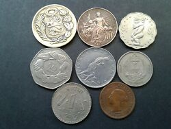 World Old 8 Coins Random Years Collectibles