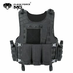 Mgflashforce Molle Airsoft Vest Tactical Vest Plate Carrier Swat Fishing Hunting