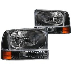111080 Anzo Headlight Lamp Driver And Passenger Side New For F250 Truck F350 Lh Rh
