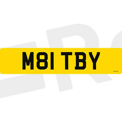M81 Tby Maltby Maltbys Toby Rare Surname Registration Number Plate Short