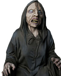 Animated Wicked Witch Skeleton Zombie Halloween Haunted House Prop Life Size