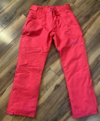 Arctix Women's Size S Insulated Snow Ski Pants 1800 Boot Gaiters Red Blue