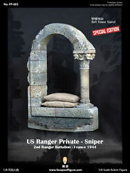 16 Facepool Wwii Us Ranger Private Sniper Bell Tower Stand Diorama Display 12