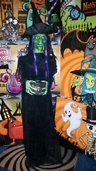 New Halloween Cackling Life Size Witch Prop With Cauldron Tray Bargain