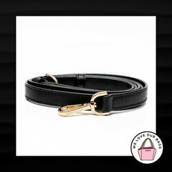 MICHAEL BLACK LEATHER GOLD METAL REPLACEMENT BAG PURSE CROSSBODY STRAP 49quot; $29.99