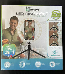 """Iunusi 10"""" Led Ring Light Selfie Ring Light With Tripod Stand, 3 Light Modes And"""