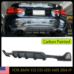 Carbon Painted Rear Bumper Diffuser For Bmw F32 F33 435i 440i M Pake 2014-19