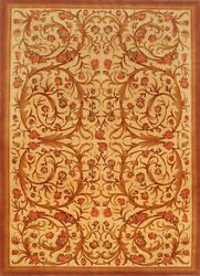 Vintage Hand-knotted Carpet 8and0394 X 11and0395 Traditional Brown Ivory Wool Area Rug