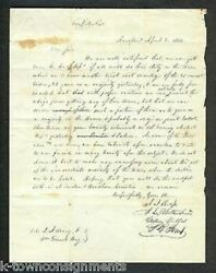 Gideon Welles Hartford Committee Autograph Signed Anti-whig Campaign Letter 1844