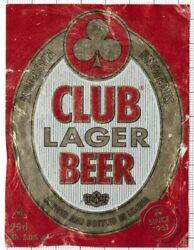 Liberia Monrovia Breweries Club Lager 75cl Beer Label C2263 012