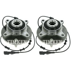 Set-tmsp550202 Timken Set Of 2 Wheel Hubs Front Driver And Passenger Side New Pair
