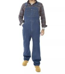 New Lincoln Outfitters Menand039s Denim Bib Overalls Blue Jeans Size 44x31