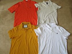 Lot, 4 Mens Size Xxl Polo Shirts, Aeropostale, Abercrombie And Fitch