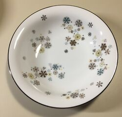 6 Vintage 1950s Noritake Snowflakes 5548 Coupe Soup Bowl 7 3/8 Discontinued