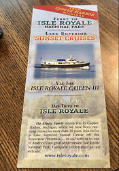 Michigan Ferry On Lake Superior Cruise To Isle Royale National Park Brochure '02