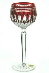Waterford Clarendon Ruby Red Wine Hock Mint Condition