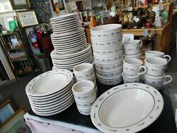69 Pc Longaberger Heritage Green Dinnerware Set Local Pick Up Only
