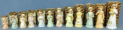 Enesco - Growing Up Birthday Girl Figurine Lot - 12 Different - 1986 With Boxes.