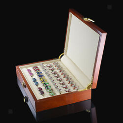 Antique Wooden Box Case For Earring Jewelry Display