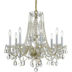 Crystorama 1138-pb-cl-s Traditional Crystal Chandelier Polished Brass