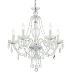 Crystorama Can-a1305-ch-cl-s Candace Chandelier Polished Chrome