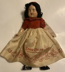"""Vintage Shirley Temple 18"""" Snow White Doll 1930's Composition Disney Ideal Rare"""