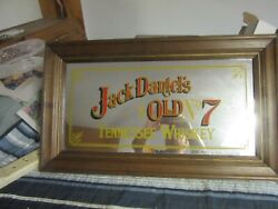 Jack Daniels Bar Sign Mirror Tennessee Whiskey Tavern Sign Old No 7 Advertising