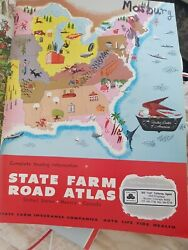 Vintage State Farm Road Atlas United States Mexico Canada Complete Touring Info