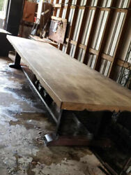 Farmhouse Style Table, Table Is 16' Long X 4' Wide/ All One Piece