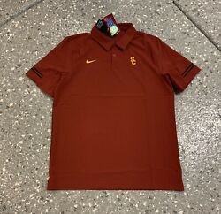 Usc Trojans Nike Sideine Coaches Golf Polo Shirt Men's Xl New With Tags